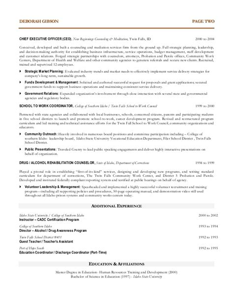 Sample Non Profit Resume by Non Profit Executive Resume