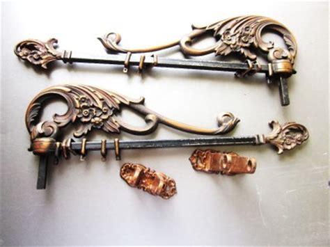 antique iron curtain rods 2 art nouveau victorian antique iron swing arm curtain