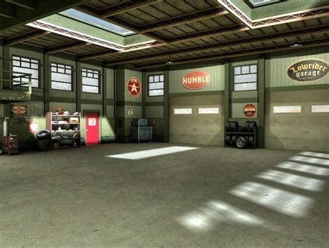 Mechanics Garage by Garage Mechanic Shop Interior 3d Model