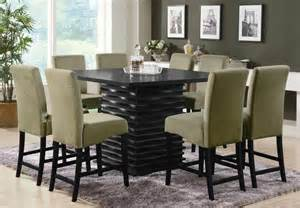 Contemporary Dining Room Set Coaster Stanton Square Counter Height Dining Set Stantoncounterset At Homelement