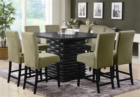 dining room chair set coaster stanton square counter height dining set