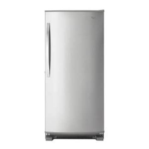 whirlpool 18 cu ft free upright freezer in