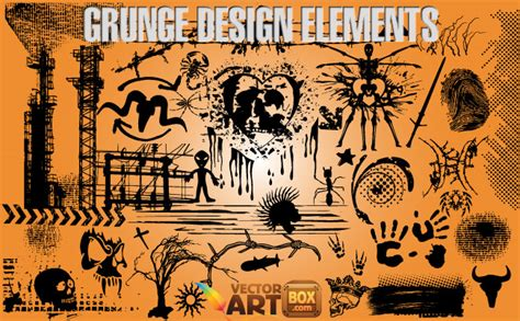 grunge design elements vector grunge design elements free vector 4vector