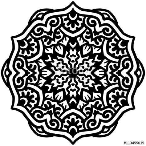mandala coloring pages vector quot black mandala for coloring mandala vector coloring page