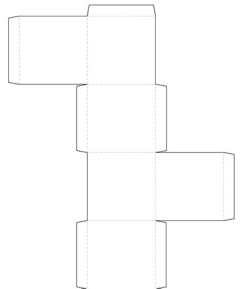 A Paper Box Template - printable square box template