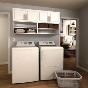 Modifi Madison 60 in. W White Open Shelves Laundry Cabinet