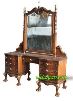 Meja Rias Rahwana meja rias tolet pigura cermin ukir dan minimalis