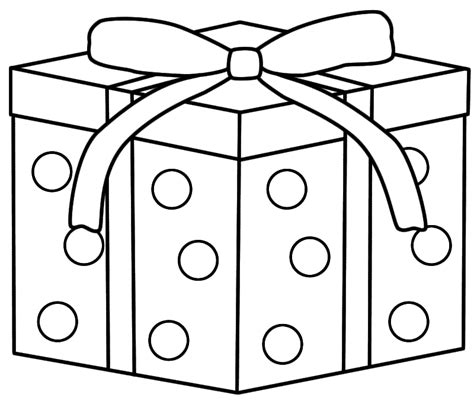 wrapped present coloring page christmas coloring pages