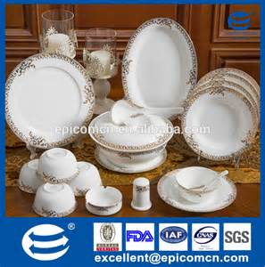 Round Expanding Dining Table 121pcs newest design round shape fine porcelain dinner set