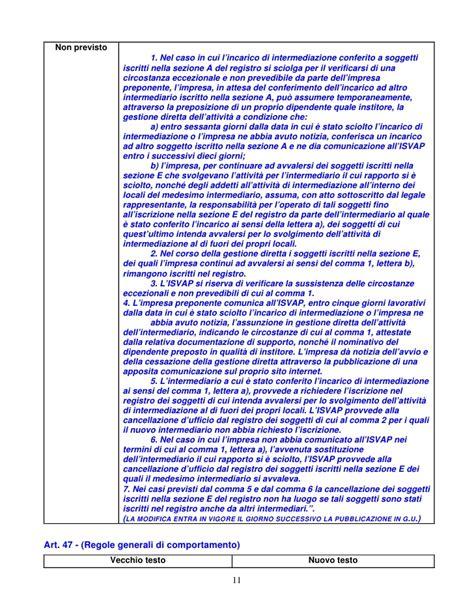 l impresa eccezionale testo tabella comparazione confronto tra il vecchio ed il nuovo