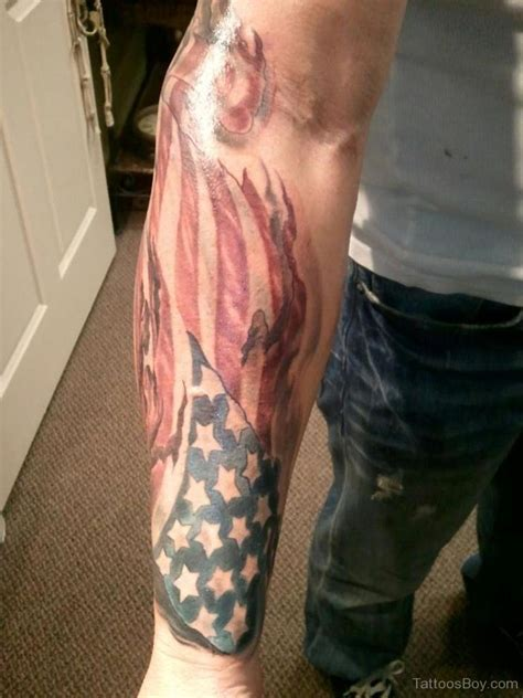american flag tattoo sleeve flag tattoos designs pictures
