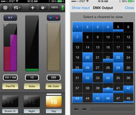 control lights with iphone dmx lighting control with iphone luminair app
