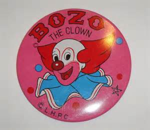 Hanging Wall Vase Bozo The Clown Metal Pin Button Made In By Susiesohocollection