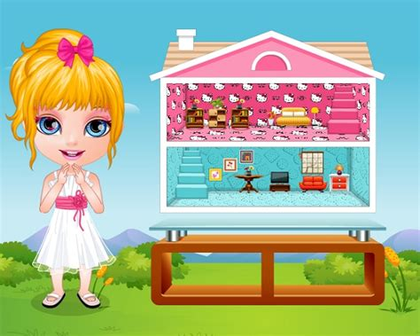 barbie girl doll house games potty training girls video barbie baby games for kids