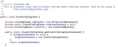 template class in java thread safe and a fast singleton implementation