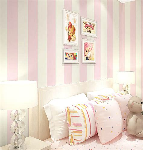 wallpaper for girls bedroom aliexpress com buy modern romantic striped wallpaper