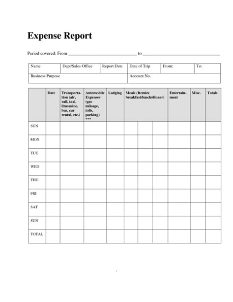 basic expense report template basic expense report template helloalive