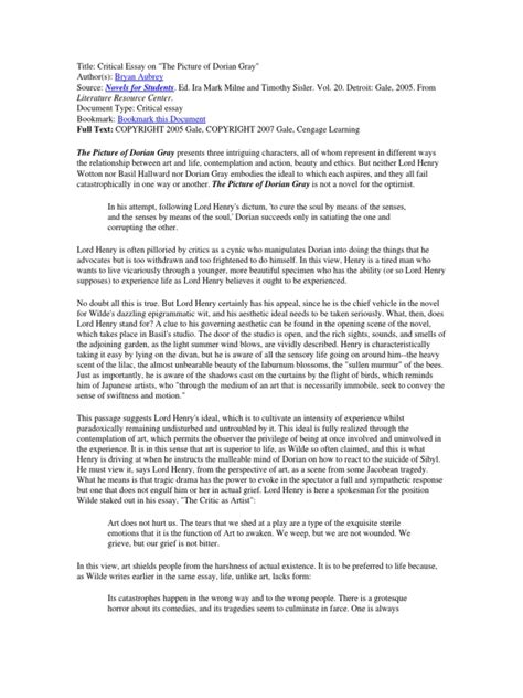 Dorian Gray Essay by College Essays College Application Essays Picture Of Dorian Gray Essay