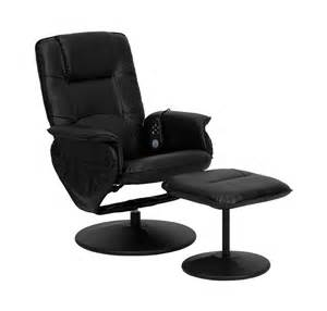 Bonded Leather Chair And Ottoman Massaging Bonded Leather Recliner And Ottoman By Flash Furniture In Leather Recliners