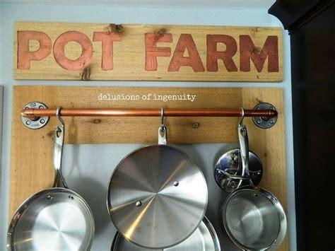 pot farm orpot rack kitchen storage pot rack