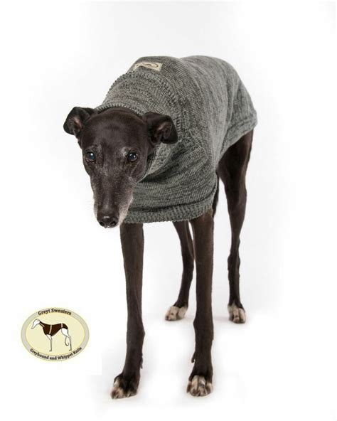 Brindle Knit8 brindle sweater charcoal grey silver grey for greyhounds