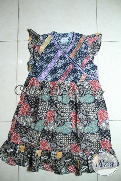 Gamis Anak Teddy 456 Th baju batik berkelas model tanpa lengan untuk anak