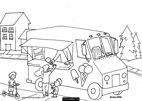 ice cream store coloring page ice cream truck coloring page coloring home