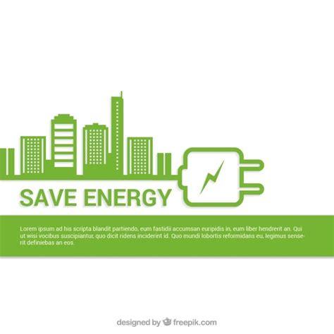 Energi Saving save energy background vector free