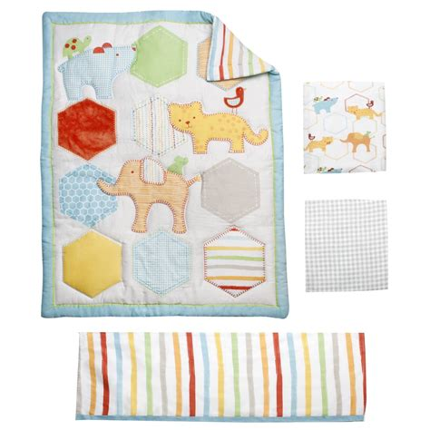 Zoo Crib Bedding Set Kidsline Whos At The Zoo Baby Bedding And Accessories Baby Bedding And Accessories