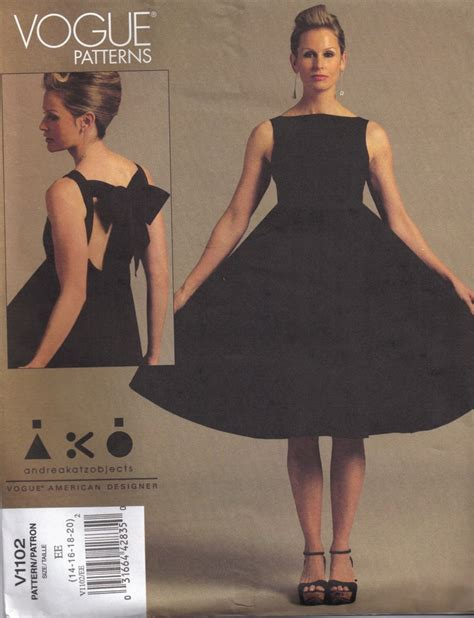pattern little black dress andrea katz objects ako dress vogue patterns v1102