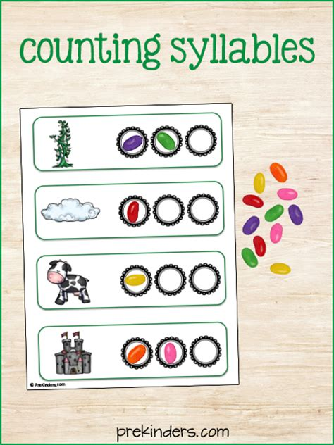 printable syllable games jack and the beanstalk syllable activity prekinders