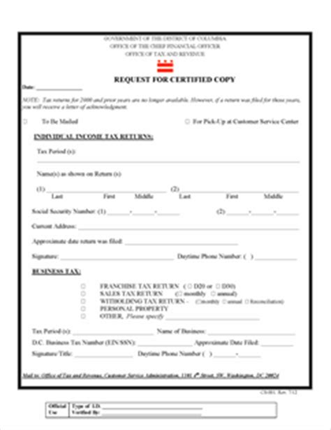 sle of tax return transcript form cs 001 fillable request for certified copy of