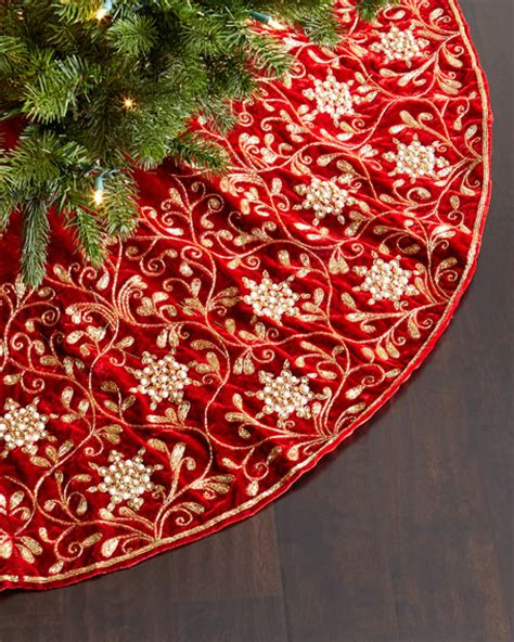 sudha pennathur velvet christmas tree skirt