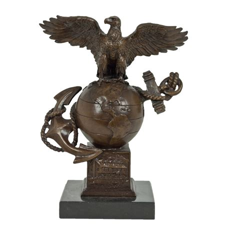 Home Decor Picture Frames bronze eagle globe and anchor statue