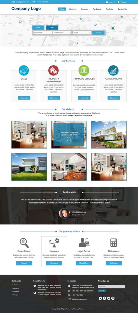 Real Estate Website Template Ved Web Services Real Estate Development Website Templates