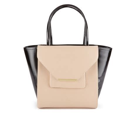 Large Patent Shopper Bag From Accessorize by Ted Baker S Roselle Patent Crosshatch Large Shopper