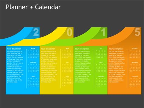 powerpoint templates for january planner calendar powerpoint template