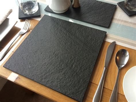 Lakeland Dark Blue Grey Slate Placemat   UK Slate