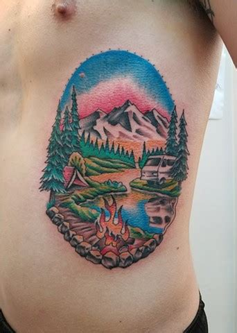 bob ross tattoo tattoos by ian manley