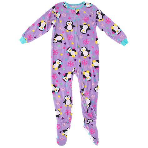 footie pajamas purple penguin footed pajamas for