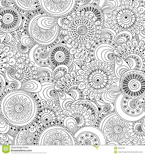 black and white pattern wallpaper vintage style seamless flower black and white retro background stock