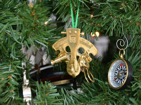 nautical tree ornaments buy brass nautical sextant tree ornament