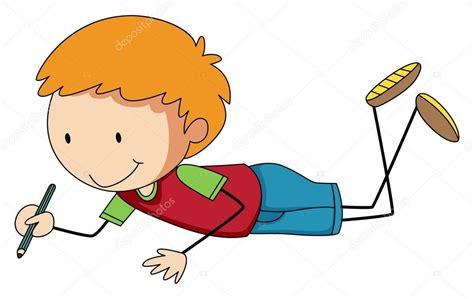 imagenes de niños leyendo y escribiendo ni 241 o escribiendo con l 225 piz vector de stock
