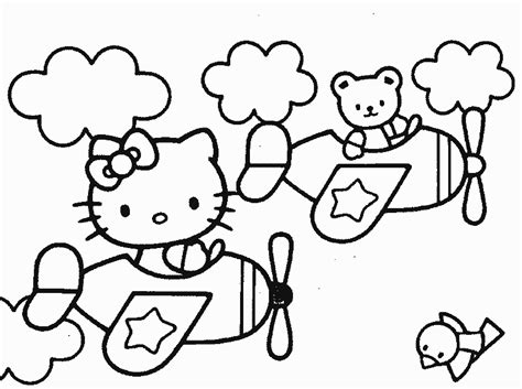hello kitty airplane coloring page hello kitty coloring books bebo pandco
