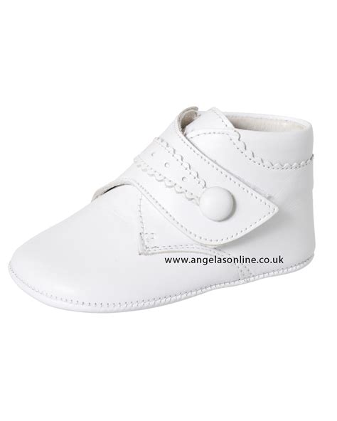 Prewalker White Boots andanines baby boy soft white leather pre walker boot m10160