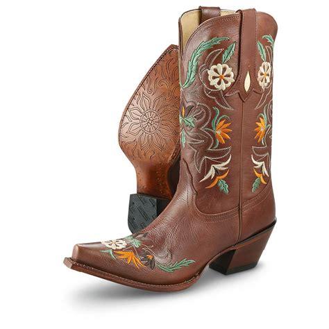 womans western boots s tony lama 174 khloe western boots cinnamon 578582