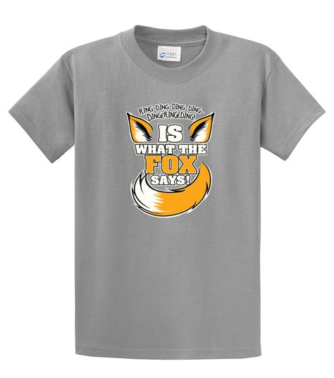 Tshirt Ring Ding by T Shirt Ring Ding Ding Is What The Fox Says Ebay