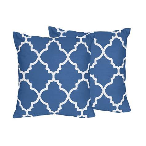 Blue And White Throw Pillows Blue And White Trellis Decorative Accent Throw Pillows