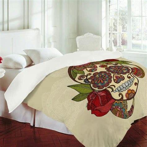 skull bed spread sugar skull bed comforter bedding pinterest