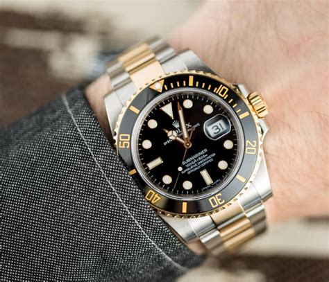 Rolex Essen Date Black Combi Gold smaller watches rolex iwc breitling is there a trend